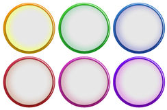Six colorful buttons Royalty Free Stock Photos