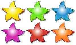 Six colorful stars Stock Photo