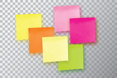 Six Colorful sticky note. Template for your projects. Stock Photo