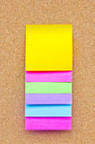 Six Colorful Sticky Notes. Royalty Free Stock Photos