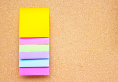 Six Colorful Sticky Notes. Royalty Free Stock Photo