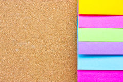 Six Colorful Sticky Notes. Royalty Free Stock Image