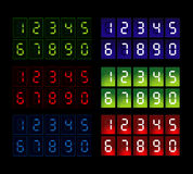 Six colorful web counters Stock Image