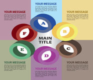 Six colors circles layout Stock Photography