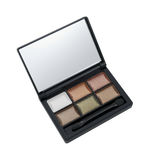 Six colors eye shadow kit Royalty Free Stock Images
