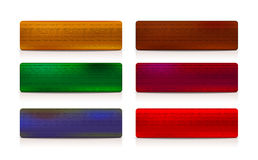 Six coloured banner set Royalty Free Stock Photography