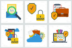 Six concepts - Data protection and encryption Stock Image