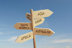 Six Continent Directions Stock Photography