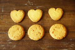 Six cookies Royalty Free Stock Photos
