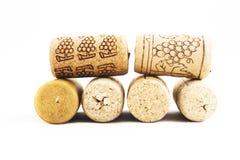 Six corcks Royalty Free Stock Photography