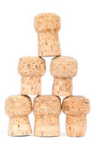 Six corks in a pyramid Stock Photography
