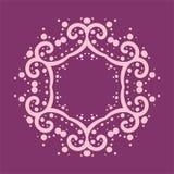 Six corner mandala made of curves and dots stock image