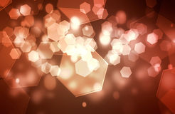 Six corners bokeh background Royalty Free Stock Photos
