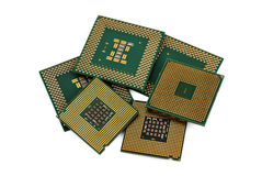 Six CPU Royalty Free Stock Image