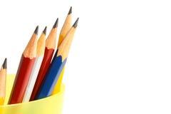 Six crayons photo stock
