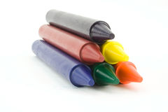 Six crayons Photos stock