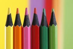 Six crayons Photos libres de droits