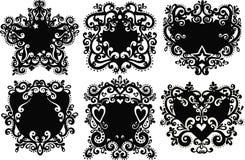 Six Crests Illustration. Illustration of Six Crests on White Background Royalty Free Stock Photo