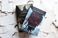 Six of Crows and Crooked Kingdom by Leigh Bardugo stock image