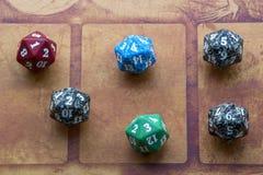 Six cubes colorés Photo libre de droits