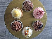 Six Cupcakes Royalty Free Stock Image