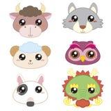 Animals head-03 stock illustration