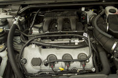 Six Cylinder Car Engine Royalty Free Stock Images