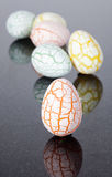 Six damaged eggs Royalty Free Stock Photo