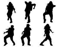 Six dancing teenagers Stock Photography