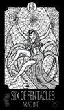 Six de pentagrammes Arachné Photographie stock libre de droits