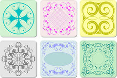 Six decorative finishing ceramic tiles Stock Photos