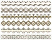 Six decorative lines Royalty Free Stock Photo