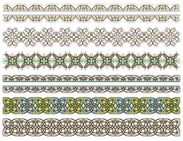 Six decorative lines, vector Royalty Free Stock Photography