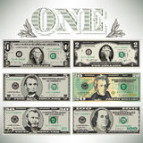 Six detailed, stylized drawings of bills. To choose from Stock Images
