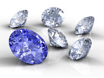 Six diamonds Stock Images