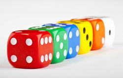 Six Dice Stock Photo