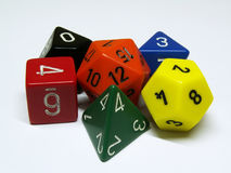 Six dices Stock Image