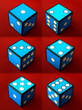 Six dices. On red background Royalty Free Stock Photo