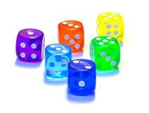 Six dices royalty free stock image