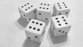 Six Dices Royalty Free Stock Photos