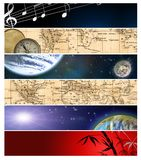 Six different  banners 12 Stock Images
