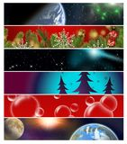 Six different banners 13 royalty free stock photo