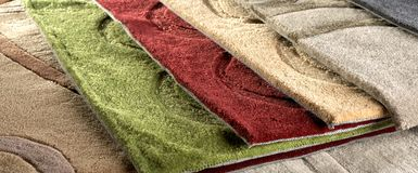 Thick carpet overlapping royalty free stock photos