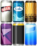Six different designs for refreshments. Illustration Stock Photo
