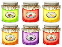 Six different jams Royalty Free Stock Image