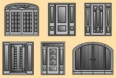 Six different kinds of Door Frames Stock Photos
