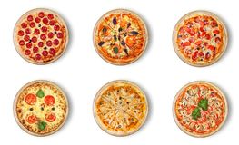 Free Six Different Pizza Set For Menu. Royalty Free Stock Photography - 118035437