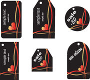 Six different shopping labels. Illustraton Stock Photography