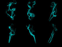 Smoke patterns Stock Images