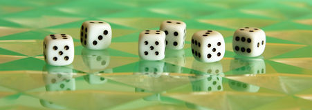 Six digital dices Royalty Free Stock Photos